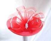 vintage Red Spectator Derby Wide Brim Hat