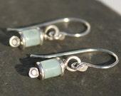 Reels - silver and Amazonite earrings