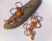 Copper Earrings JUICY GALAXY