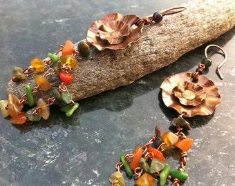 Copper Earrings INDIAN SUMMER