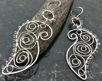 Silver Earrings UNTAMED PAISLEY