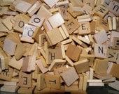 Vintage Scrabble Tiles, Authentic Scrabble Letters V P C D M B Z Q X L F W H S G Y and BLANK for Earrings, Charm Bracelet, Jewelry Scrapbook