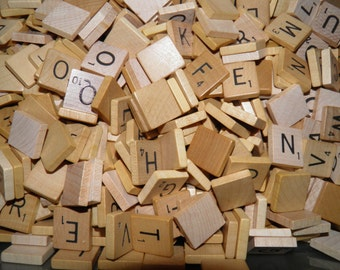 Vintage Scrabble Tiles 100 Authentic Random Assortment Bulk Scrabble Letters for Earrings Charms Bracelets Jewelry Scrapbooking Crafts USA