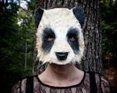 READY TO SHIP! Panda Mask, Hand Painted, panda costume, panda bear mask, animal costume, animal mask, adult mask, adult costume, child mask