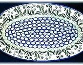 Ceramika Artystyczna Signature Serving Dish Polish Pottery