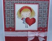 Handmade Card, Greetings, Gift, Valentine, Penny Black - Mimi Valentine Heart