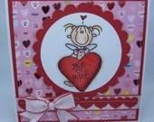 Handmade Card, Greetings, Gift, Valentine - Valentine Be Mine