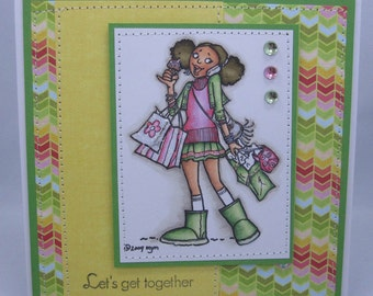 Let's Chat - Handmade Greeting Card