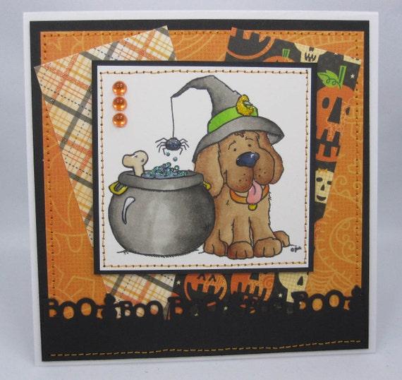 Halloween Pup - Handmade Greeting Card