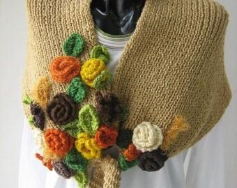 Knitting shawl - scarf