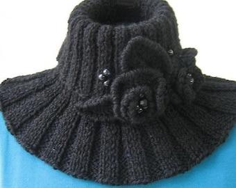 Knitting scarf - neckwarmer