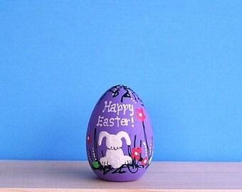 Happy  Easter -Lavender Rabbit