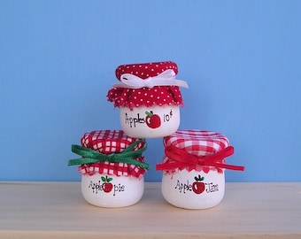Wooden candle cups  14 - Apple Pie