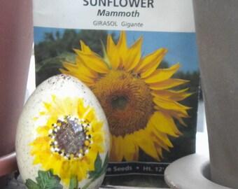 Wooden Egg 12 - Sunny Side Up
