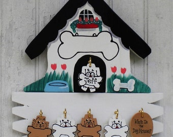 Doghouse set of 6 dogs