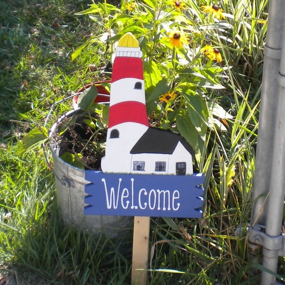 Yard Sign 95 - Lighthouse Welcome