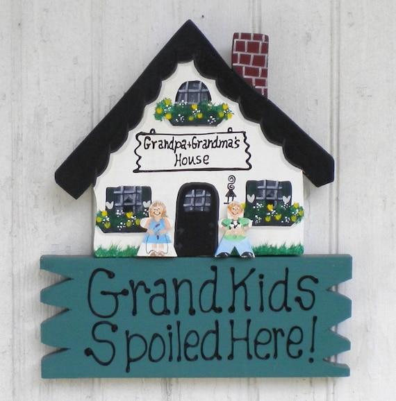 Hanging House Sign 19 -   Grandkids Make Life Grand