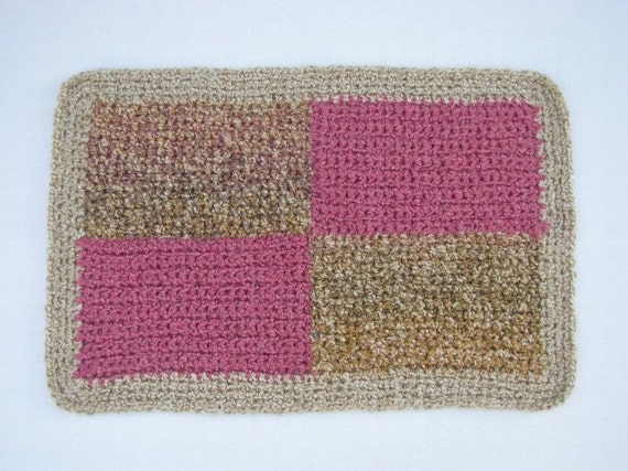 Pink/Tan Cat or Dog Patchwork Blanket
