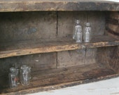 Antique Primitive Divided Wooden Box or Shelf