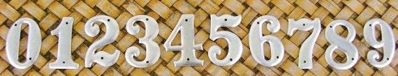 Vintage 0-9 Hardware Store Metal Numbers 10 Piece