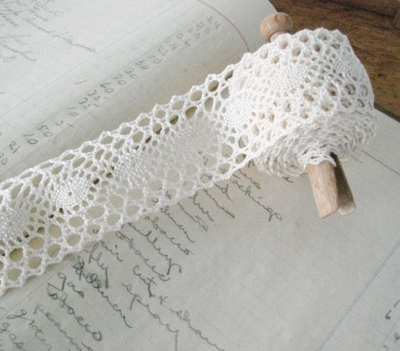 Vintage Creamy Lace Trim 5 Yards