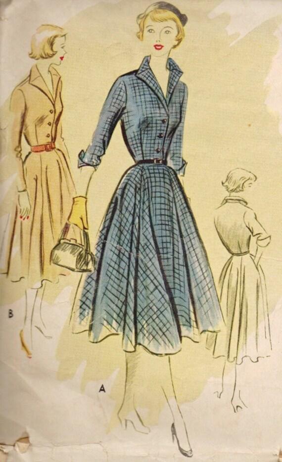 Vintage DARLING 1950s Ladies High Collar Dress Pattern