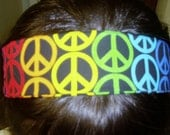 Peace symbol headband, Reserved Sale