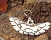 Sterling Silver Wings with a Sterling Bone & Bail