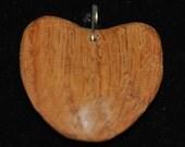 Short Heart Pendent made of Oak