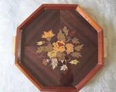 Sorrento Italian Wood Inlay Serving Tray
