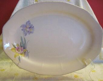 Platter AGC, Pale Pink Broadway Rose , Daffodil