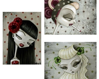 Rockabilly girls mini prints