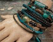 Teal we meet again.Gypsy bangle stack bracelets