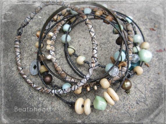 Rhianna.  Gypsy bangle stack boho bracelets