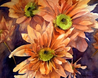 Bunch of Daisies - Floral Original watercolor painting by SriWatercolors - 22 x 30 in