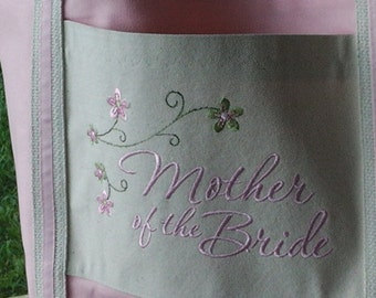 Personalized Tote Bag for Mother of Bride Mother of the Groom Wedding