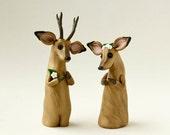 Deer Wedding Cake Topper by Bonjour Poupette