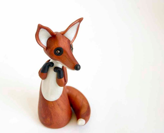 Red Fox Art Figurine - Kitsune by Bonjour Poupette