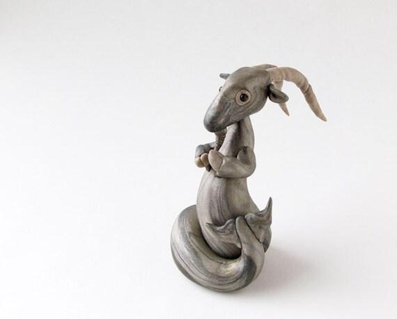 Capricorn the Sea Goat Zodiac Sculpture by Bonjour Poupette