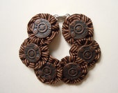 Steampunk Stripe Button Bracelet