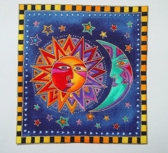 Laurel Burch Celestial Dreams fabric applique*Handmade*FEW LEFT/190