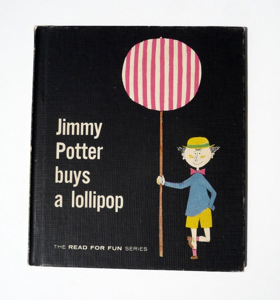Stig Lindberg Illustrated Children's Book - Jimmy Potter Buys a Lollipop
