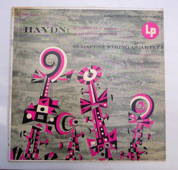 Jim Flora - Art Cover - Quartet in G Major, Quartet in D Minor (Pink Fill) (1961)
