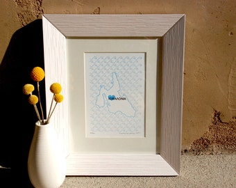 Kefalonia Map - Limited Edition Letterpress Print