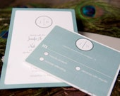 "Modern Circle Monogram Invitation Suite - ""The Hailey"""