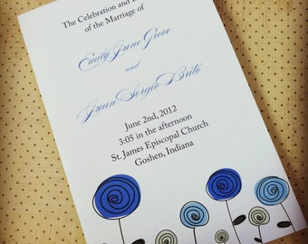 Custom Wedding Programs