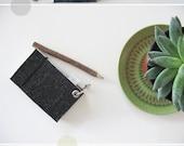 mini meal planner - charcoal felt