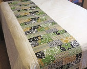 CUSTOM ORDER for Laura - Modern Brick Road - Full-size Bed Quilt