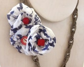 Nautical Flight - Antique Silver Chain with Tri-Rosette Statement