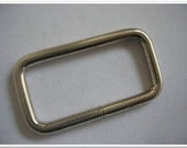 "1.5 inch rectangle Wire Loops / Rings, nickel Finish, 20 Pack, Purse Handbag Hardware, 1-1/2 Inch Rectangle, 1.5"", 1-1/2"""